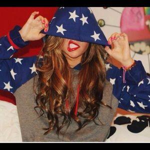 BDG American Flag Hoodie